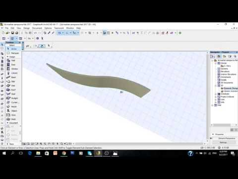 Tutorial ArchiCAD 17 how to create wavy using shell roof