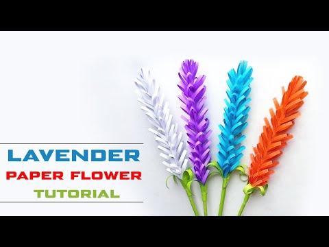DIY Lavender Flower | How to Make Lavender Paper Flowers | Easy Lavender Flower for Beginners Making