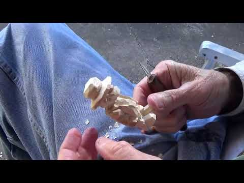 Whittling The Minature Slave Diary Farmer Part 3