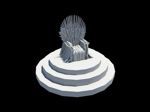 How to make The Iron Throne from Game of Thrones (Autodesk Maya Tutorial 3d) | Art MZ