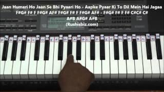 Kissa Hum Likhenge Piano Tutorials ( Doli Sajake Rakhna )