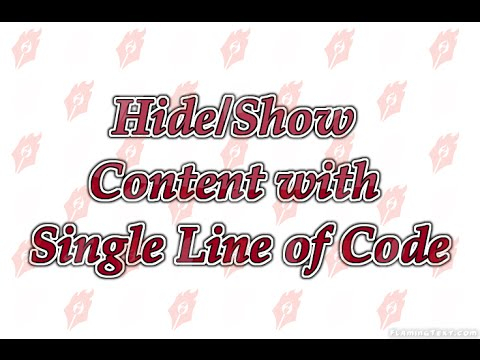 Hide and Show Content using Bootstrap