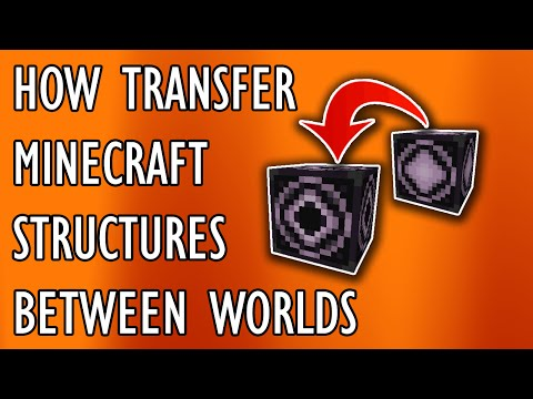 *EASY* HOW TO TRANSFER MINECRAFT STRUCTURES BETWEEN WORLDS | Minecraft Tutorial