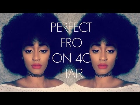 HOW TO: VOLUMINOUS AFRO ON 4C HAIR (NO HEAT)