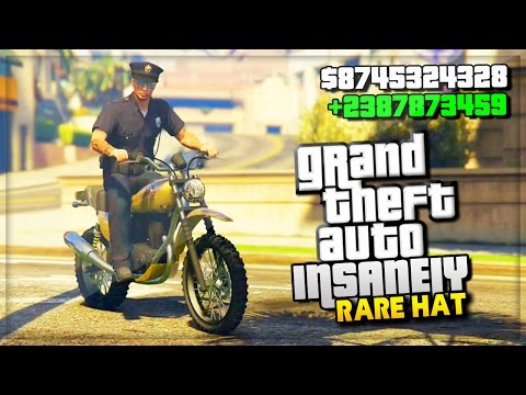 GTA 5 Online VERY RARE POLICE HAT & CUSTOM HEIST DLC OUTFIT! (GTA 5 Funny Moments Glitch)