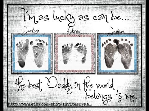 Baby Footprint Ideas | 4 Great Ways to Create Invitations With a Baby Footprint Stamp