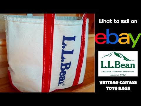What to Sell on eBay:   LL Bean Vintage Tote Bags