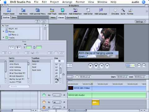 DVD Studio Pro Tutorial | 101 | Basic Subtitles