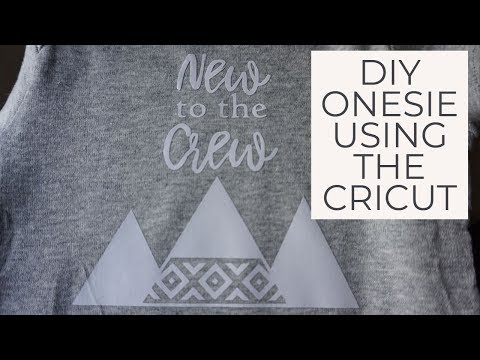 How to make a baby onesie using the Cricut! | Iron-On | Baby Shower Gift