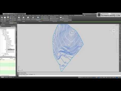 How to create 3d surface, contours and contour labels - Autocad 3D Civil 2017