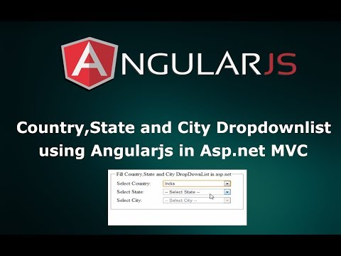 How to make Country, State and City dropdownlist using AngularJS in Asp.net MVC
