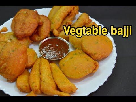 Vegetable bajji | வெஜிடபுள் பஜ்ஜி | Snacks recipe | Bajji recipes in Tamil