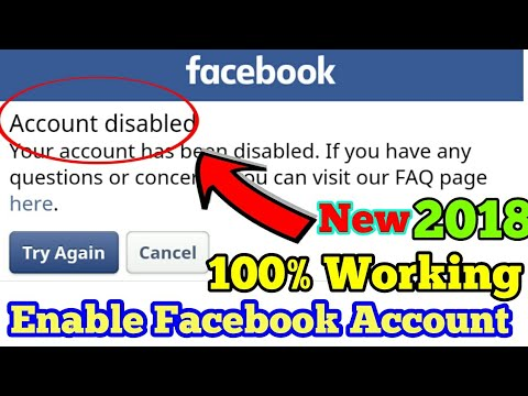 How to Recover Facebook Account How To Open Disabled Facebook Account 2018 Updated