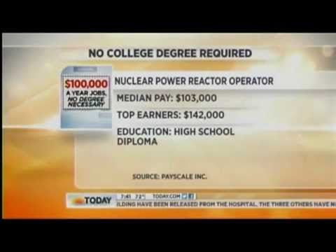 NBC Today on Top Jobs With a High School Diploma: Nuclear Reactor Operator