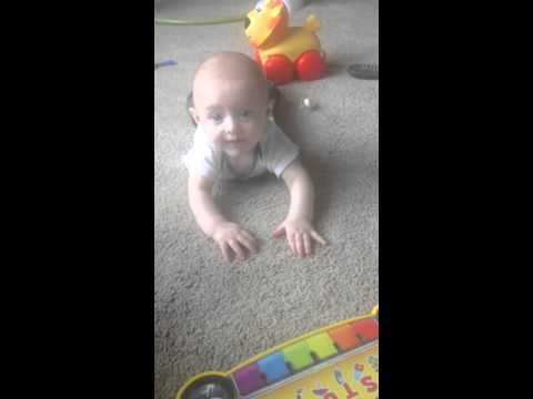 How to tell if your baby is about to crawl. My baby boy 5 months old!
