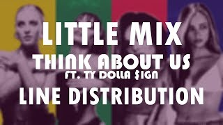 Little Mix - Think About Us ft. Ty Dolla $ign (Line Distribution) *Ty's name is misspelled*