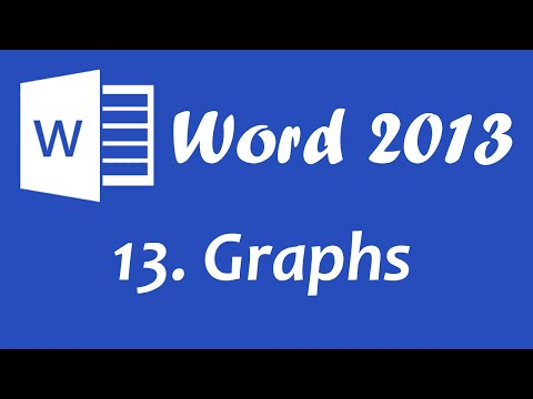 Microsoft Word 2013 - Graphs and Charts Tutorial