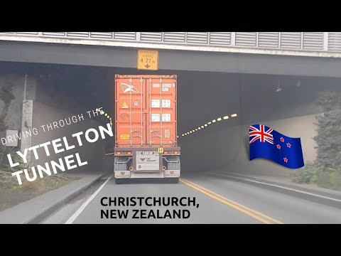 Lyttelton Tunnel drive through, Christchurch, New Zealand