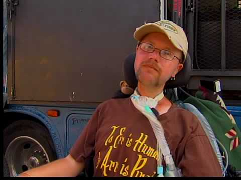 Man in wheelchair travels across country