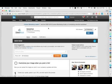 How to Add an Admin to Your LinkedIn Business Page 2016