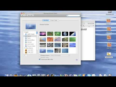 How to change your desktop/screensaver on a mac