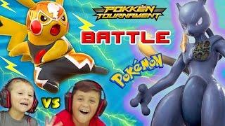 FGTEEV KIDS POKEMON BATTLE w/ SHADOW MEWTWO, CHARIZARD & More (Pokken Tournament Gameplay)