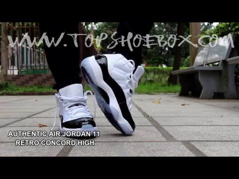 AUTHENTIC AIR JORDAN 11 RETRO CONCORD HIGH ON FEET (CONCORD)