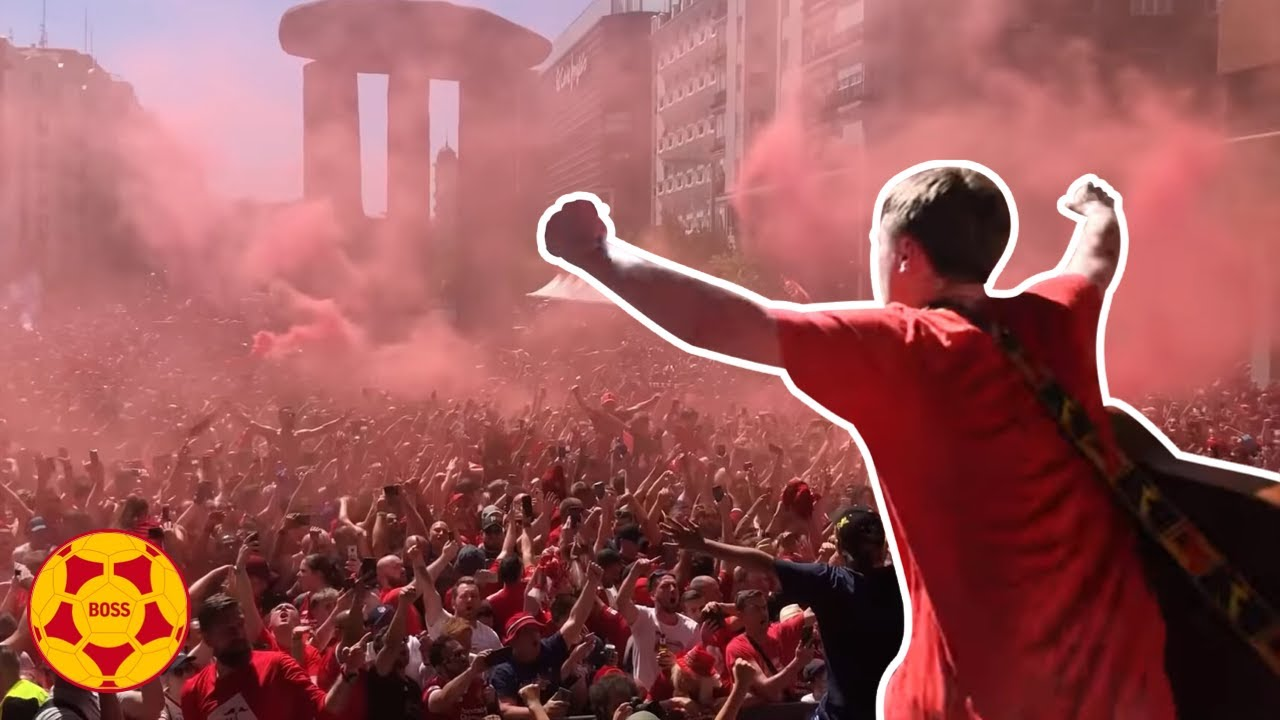 AMAZING scenes: Jamie Webster and 50,000 Reds take over Madrid! | #BOSSArchive