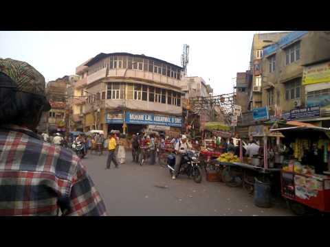 Delhi Street Crossing, Chawri Bazar, Traffic, Crossing, Police - Delhi HD