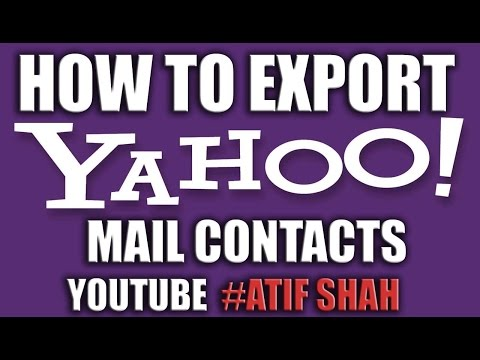 How to Export Yahoo Mail Contacts