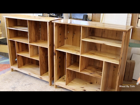 A Set Of Matching Bookcases-Chestnut & Hickory