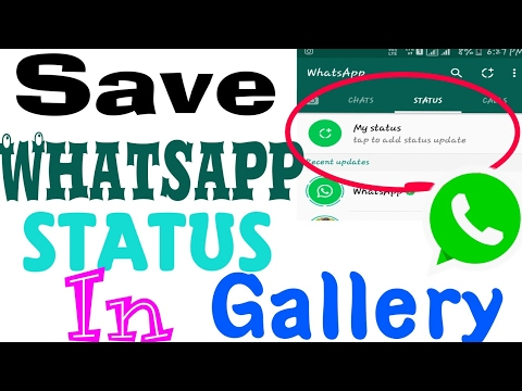 How to save whatsapp status in Gallery