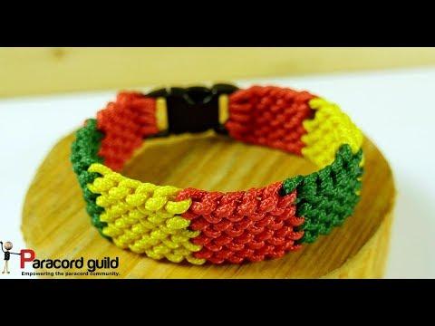 Colorful conquistador paracord bracelet