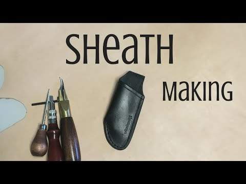 Making a FOLDING knife sheath
