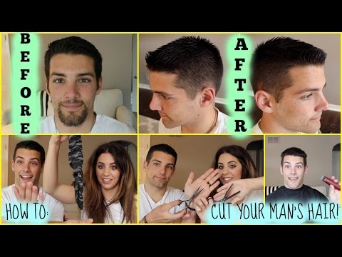 HOW TO CUT YOUR MAN'S HAIR! Featuring My Husband!