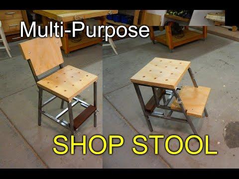 Multipurpose Shop Stool -  aka the Dual Stool