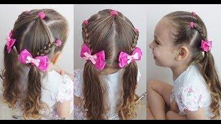 Penteado Infantil Asas de Borboleta para escola