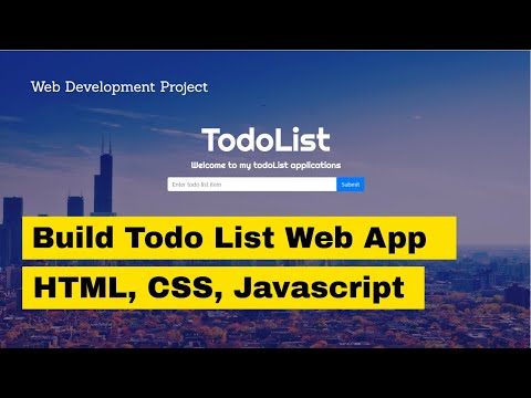 How to Program a Todo List Web Application: Javascript