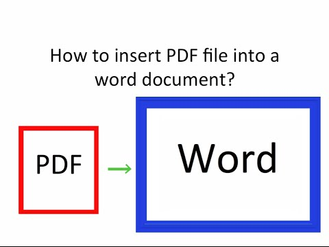 How to insert pdf into word file?