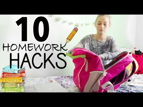 10 Study & Homework Hacks | Evelyn & Titi