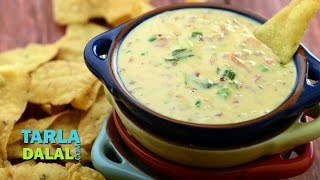 Queso Dip / Creamy Cheese Dip by Tarla Dalal