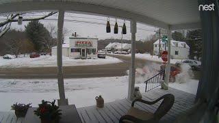 Download House Hit by a Crashing Car || ViralHog Video