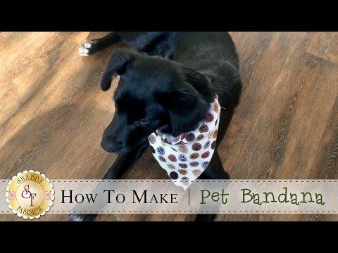 How to Make a Pet Bandana | a Shabby Fabrics Sewing Tutorial