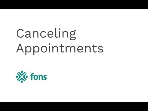 Canceling Appointments