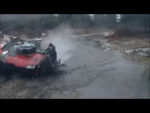 Redneck Car driving through water and mud April 2013