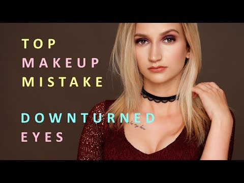TOP MAKEUP MISTAKE women with DOWNTURNED EYES should avoid making