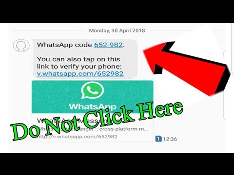 Fake SMS can steel your Whatsapp account || Important video