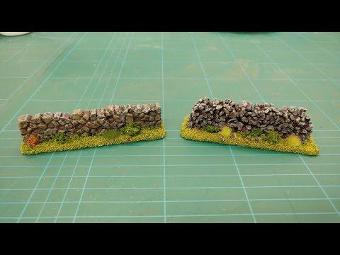 Let's Make - Cheap & Easy Stone Field Walls Scatter Terrain