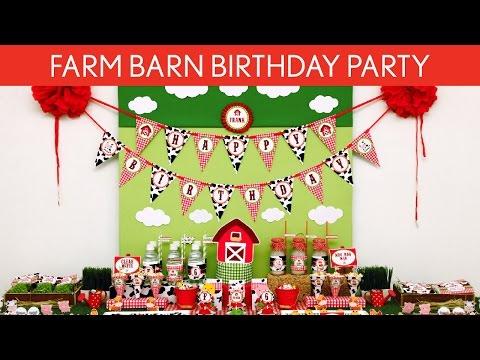 Farm Barn Birthday Party Ideas // Farm Barn - B112