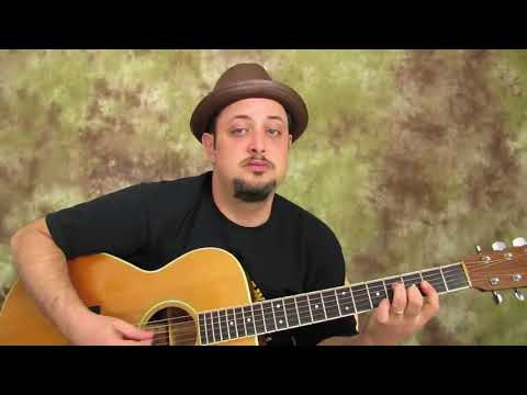 Simple Trick to easier acoustic blues chord licks